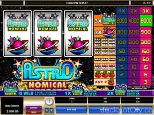 Astronomical Slots microgaming