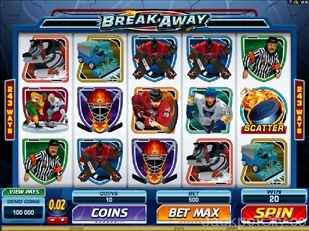 Break Away Slots microgaming