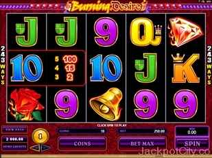 Burning Desire Slots microgaming