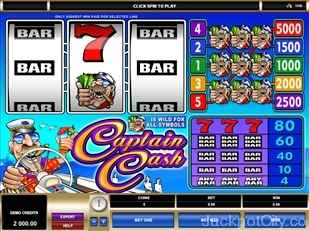 Captain Cash Slots microgaming