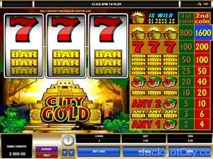 City of Gold Slots microgaming