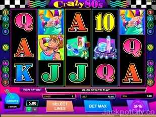 Crazy 80's Slots microgaming