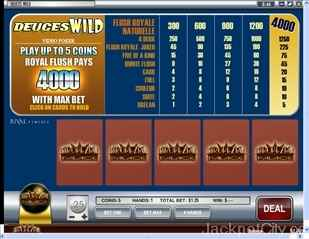 Deuces Wild Video Poker rival