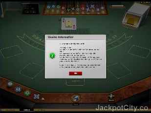 European Blackjack Gold Series microgaming