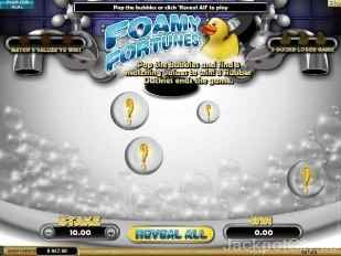 Foamy Fortunes Instant Win Game microgaming