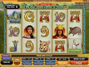 Gold of Machu Picchu Slots microgaming