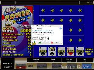 Jacks or Better 4 Play Power Poker microgaming