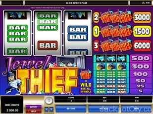 Jewel Thief Slots microgaming