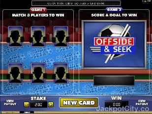 Offside and Seek Scratch and Bonus microgaming