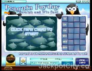 Penguin Payday Scratch and Win rival