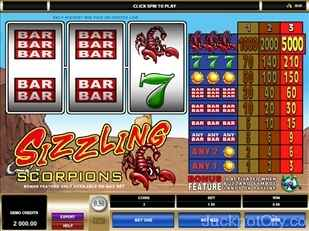 Sizzling Scorpions Slots microgaming