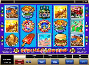 Spring Break Slots microgaming