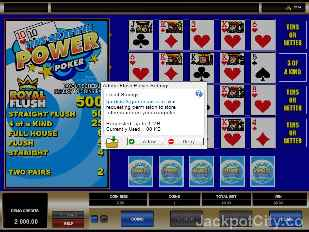 Tens or Better 4 Play Power Poker microgaming