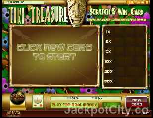 Tiki Treasure Scratch and Win rival