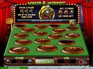 Whack a Jackpot microgaming